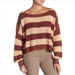 NWT Free People Just My Stripe Sweater